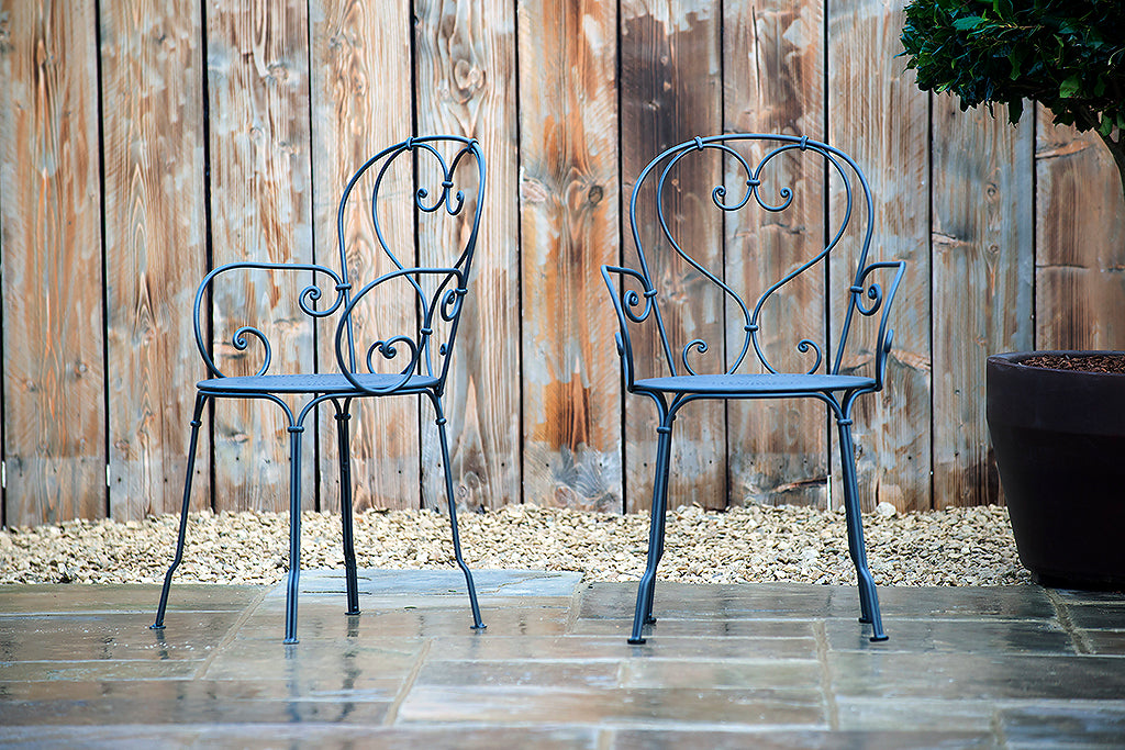 1900 Stacking Armchair Anthracite - Rosara Outdoor Style