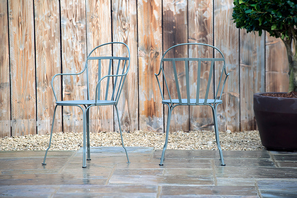 Louvre Stacking Armchair Rosemary - Rosara Outdoor Style