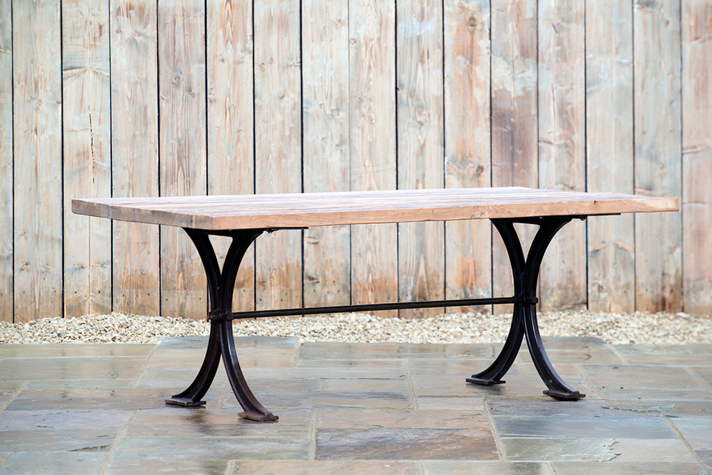 Large Rustic Teak Table - Rosara Outdoor Style