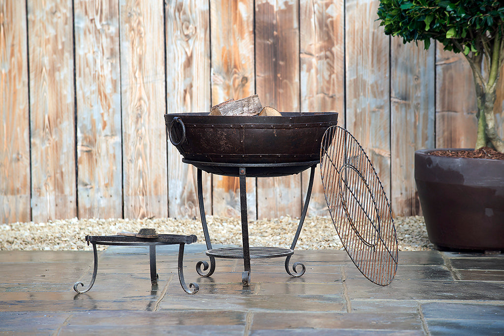 Kadai Firebowl Recycled Metal with Kit 70cm - Rosara Outdoor Style