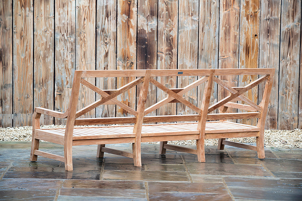 Bruern 3 Seater Bench - Rosara Outdoor Style