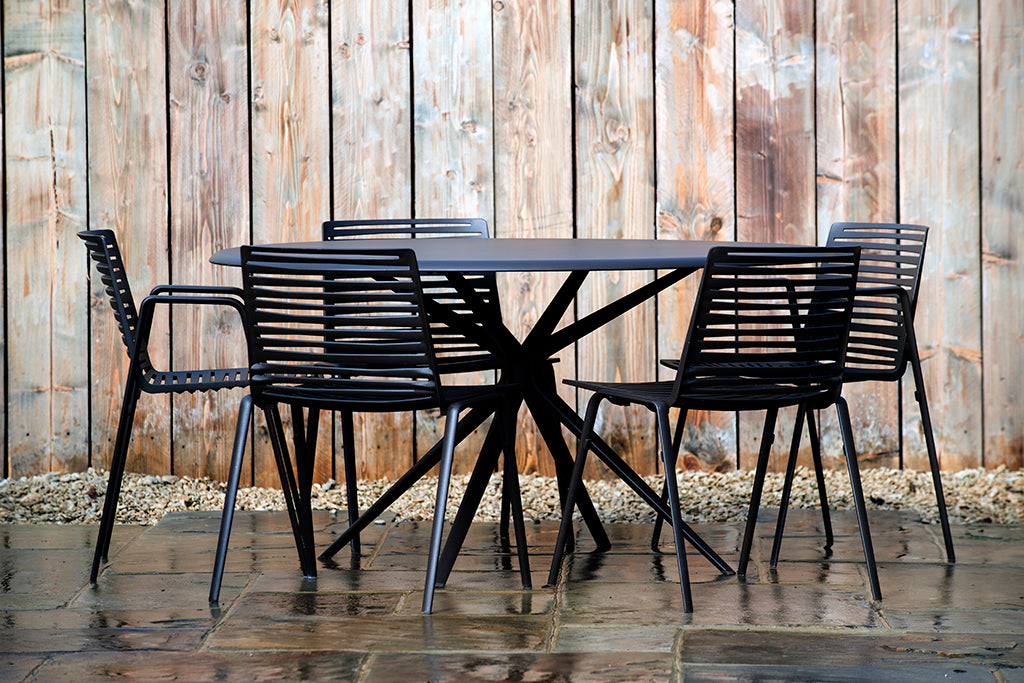 Verona Round Table Dark Brown - Rosara Outdoor Style