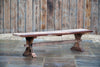 Large Rustic Teak Bench - Rosara Outdoor Style