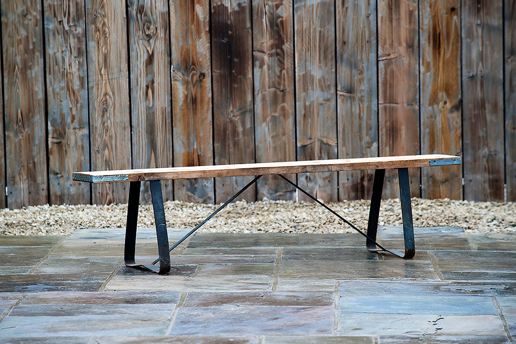 Scaffold Plank Bench - Rosara Outdoor Style