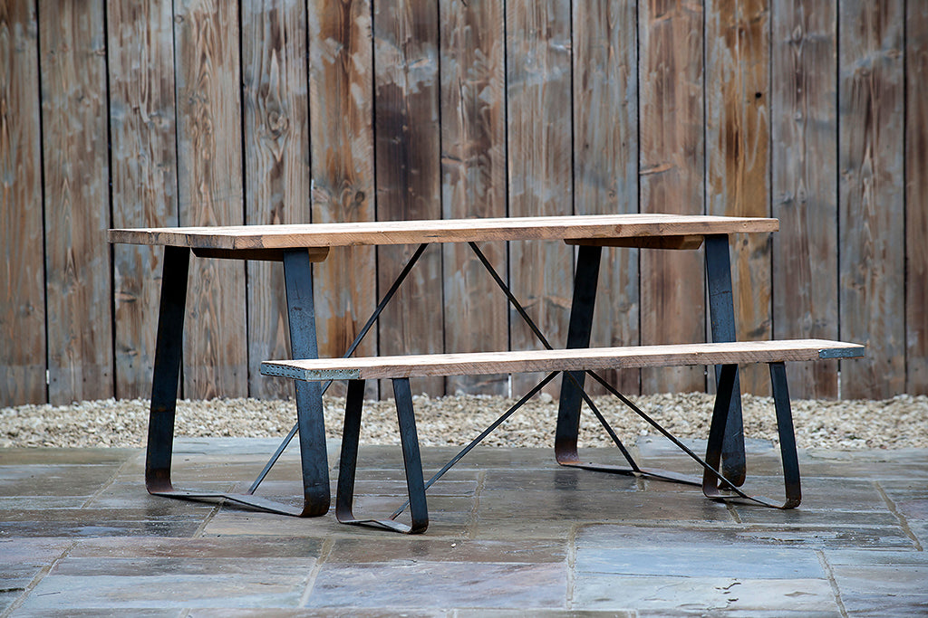 Scaffold Plank Table - Rosara Outdoor Style