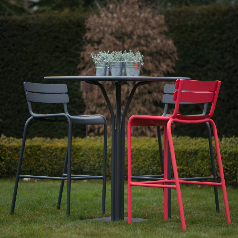 Luxembourg High Stool Anthracite - Rosara Outdoor Style