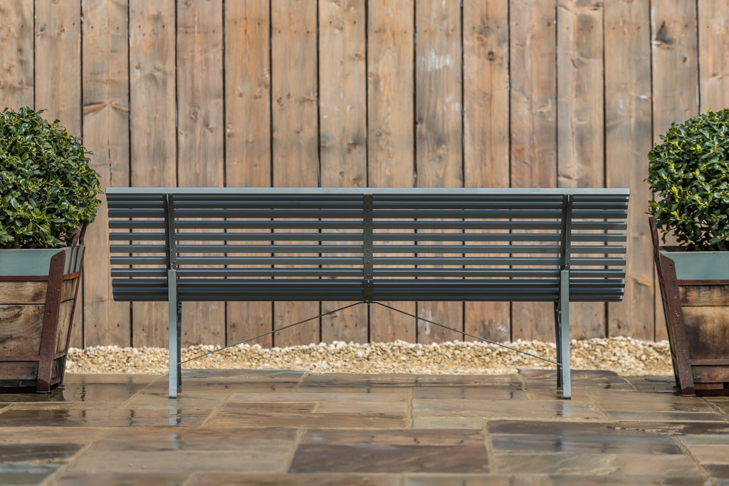 Louisiane Metal Bench Anthracite 200cm