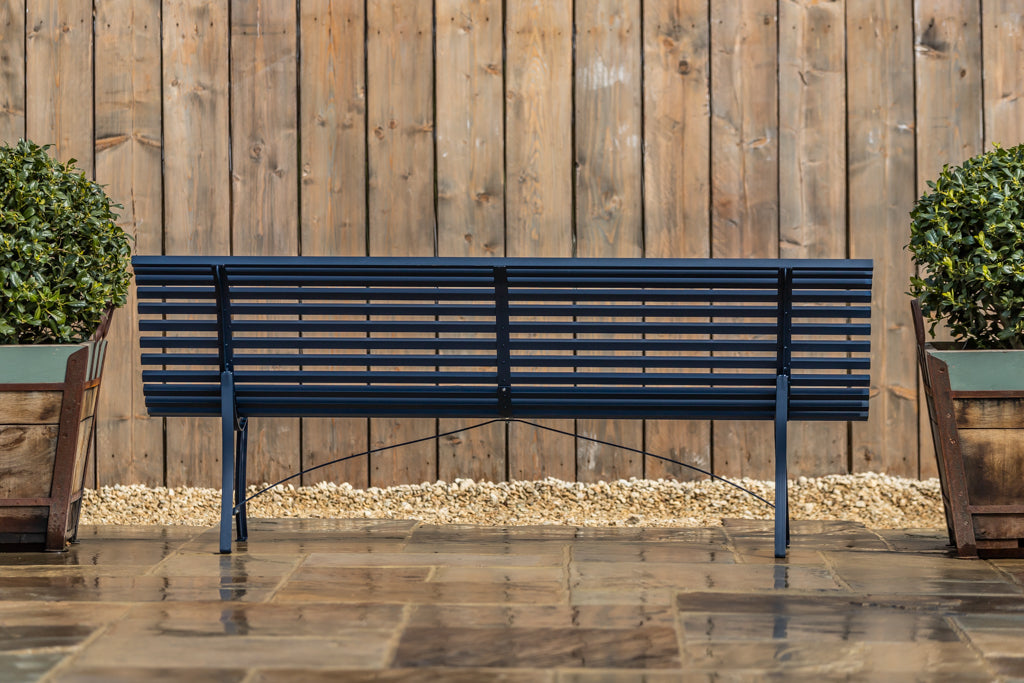 Louisiane Metal Bench Deep Blue 200cm