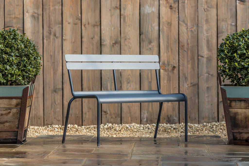 Luxembourg 2/3 Seat Bench Anthracite