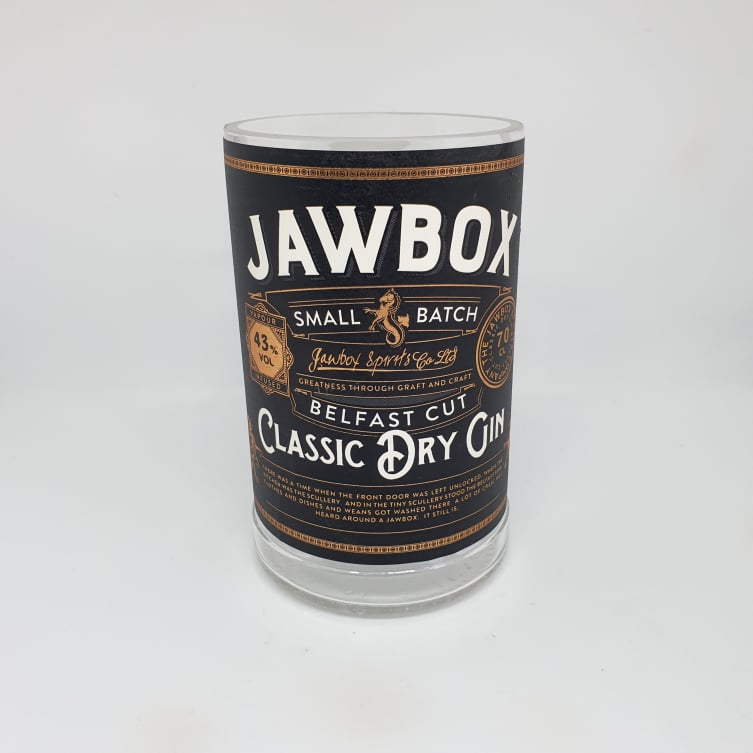 Jawbox Dry Gin Bottle Candle