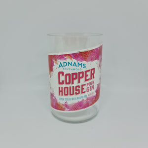 Adnam's Copper House Pink Gin Bottle Candle