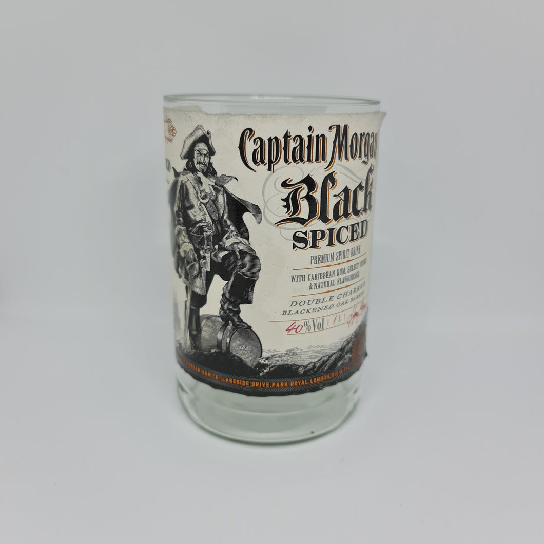 Captain Morgan Black Spiced Rum Bottle Candle