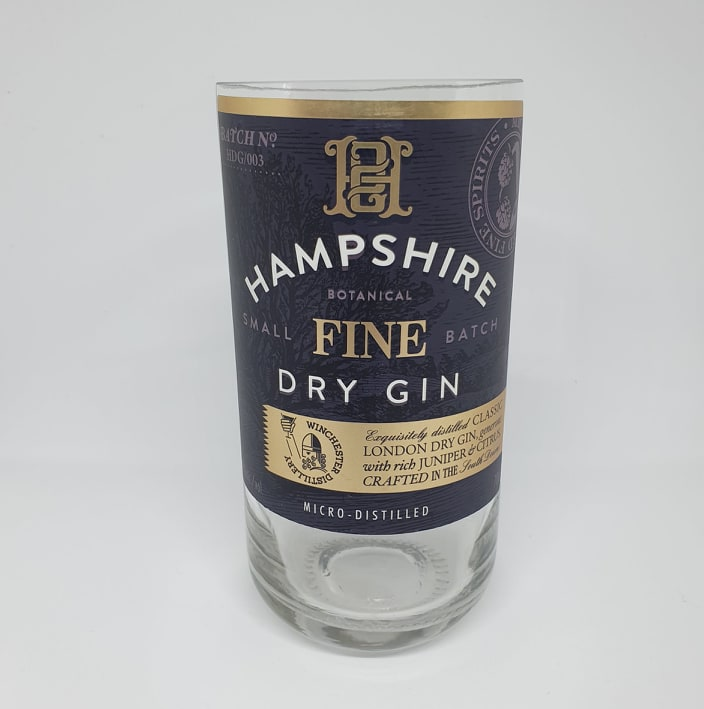 Hampshire Fine Dry Gin Bottle Candle