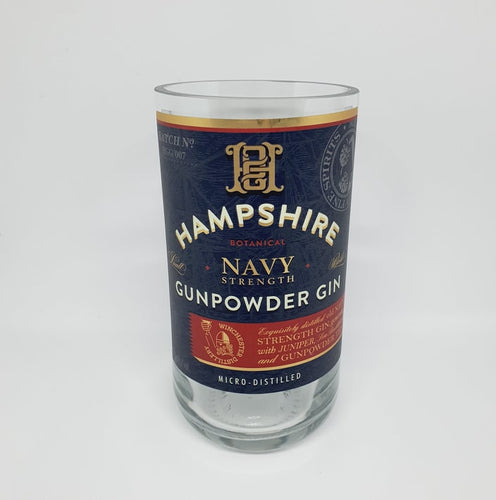 Hampshire Navy Gunpowder Gin Bottle Candle