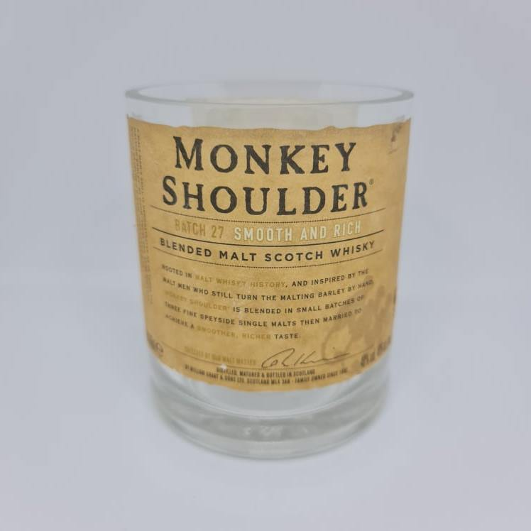 Monkey Shoulder Whisky Bottle Candle