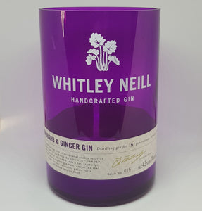 Whitley Neill Rhubarb & Ginger Bottle Candle
