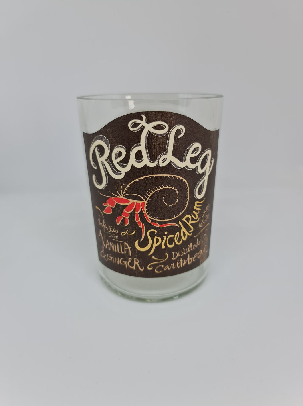 Red Leg Spiced Rum Bottle Candle