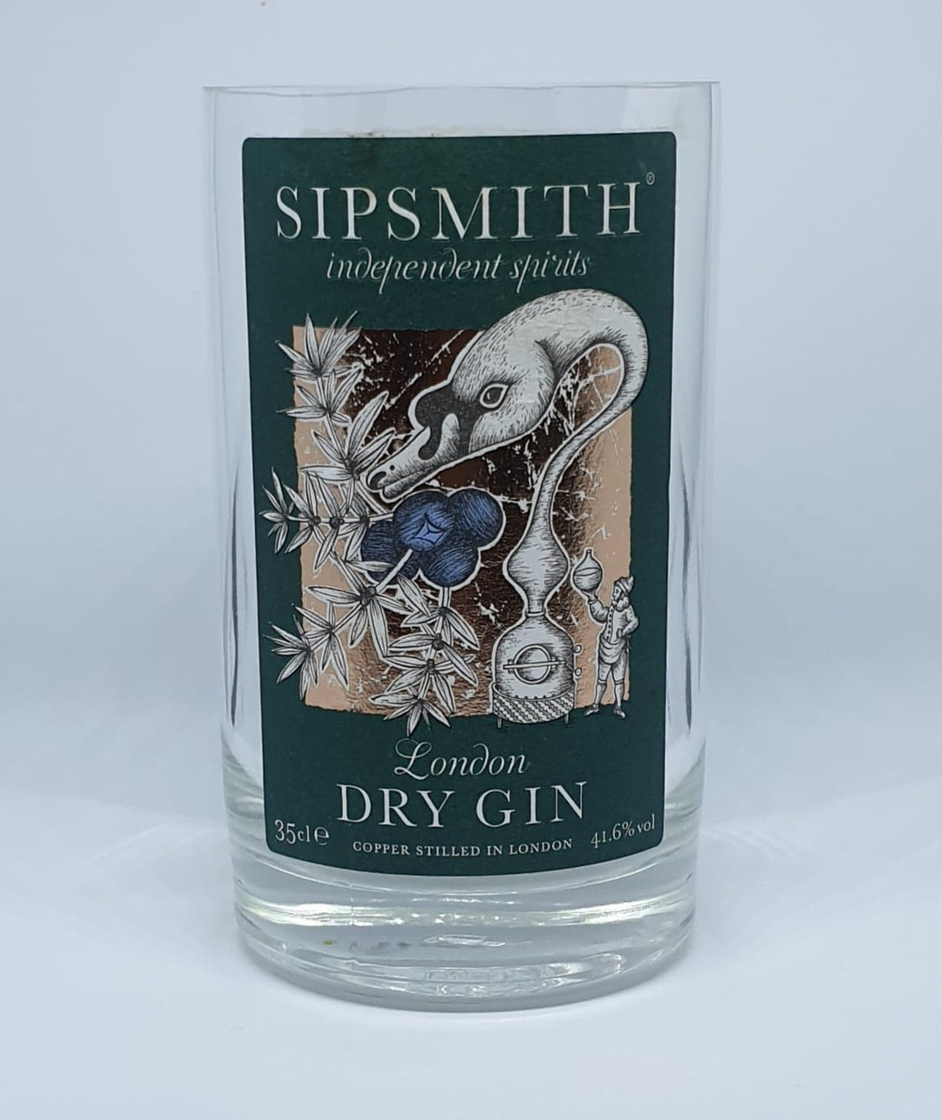 Small Sipsmith Gin Bottle Candle