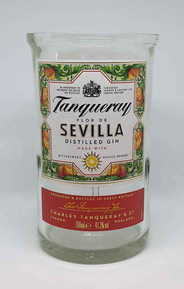 Tanqueray Sevilla Gin Bottle Candle