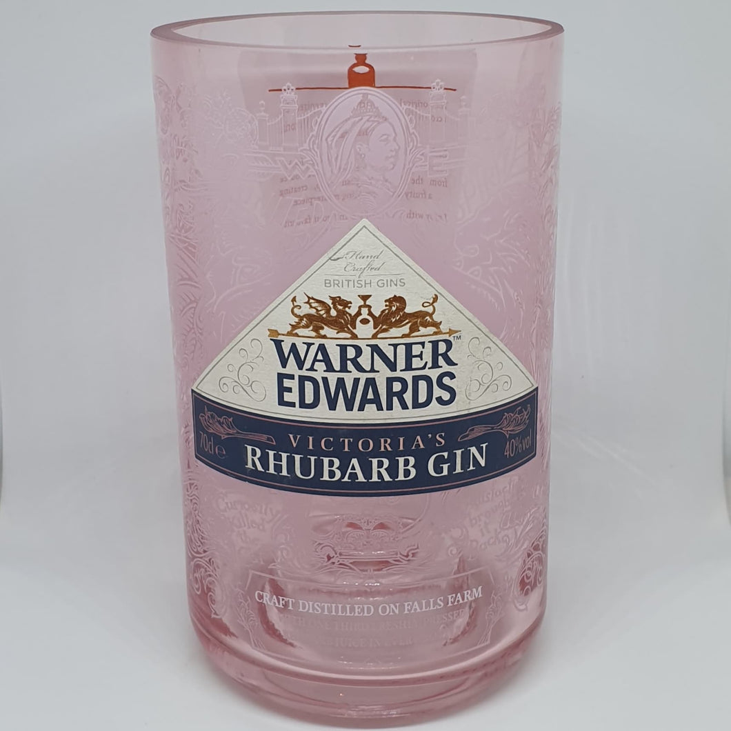 Warner Edwards Rhubarb Gin Bottle Candle