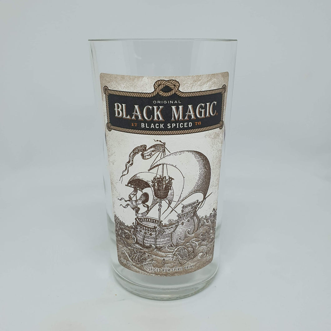 Black Magic Rum Bottle Candle