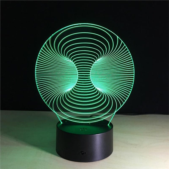 3D Illusion Lamp With Remote Control Capabilities.