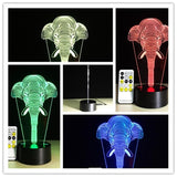 3D Optical Illusion Lamp Remote Color Changing Capabilities
