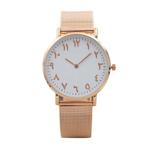 Ancient Numerals Stainless Steel Watch (rose Gold Or Silver)