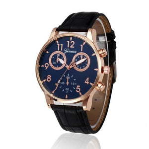 Business Style PU Leather Watch