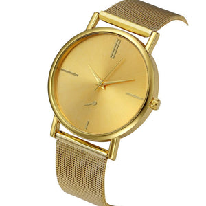 Classic Sleek Wrist Watch (in Gold Or Rose Gold)