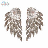 Earring Wings With Rhinestone Diamonds