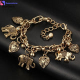 Elephants And Hearts Bracelet