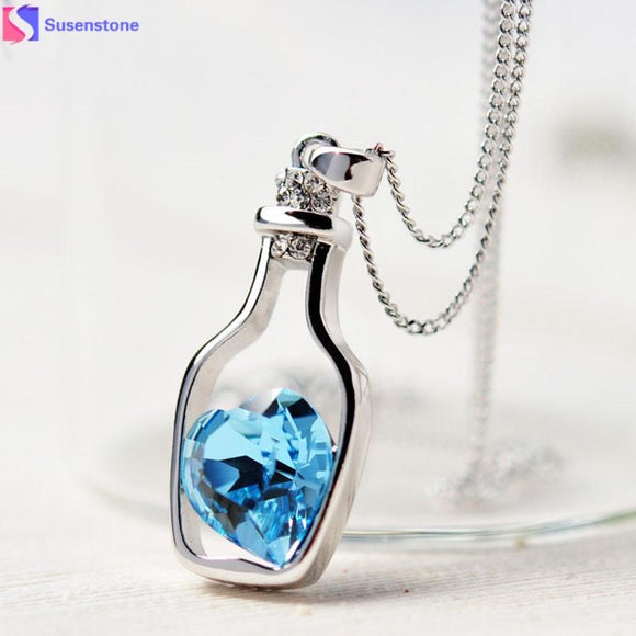 Heart Crystal Pendant Necklace (click To See Other Colors)