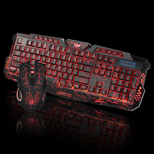 LED Gaming Wired Keyboard And Mouse Set