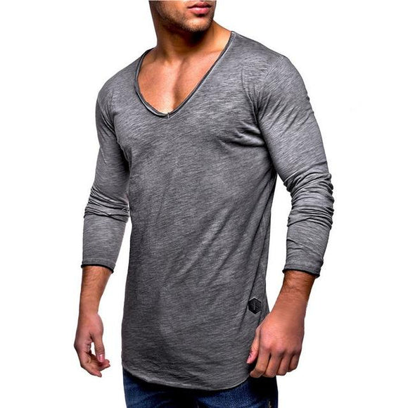 Solid V-Neck Shirt