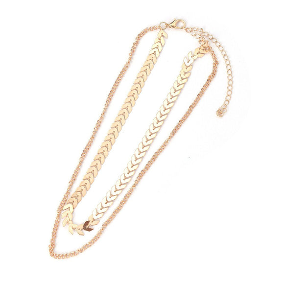 Stylish Necklace In Gold Or Silver