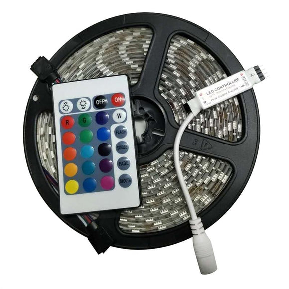 Waterproof LED Strip Of Lights (includes Remote Control)