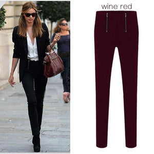 Women's Casual Pants (green Or Red)