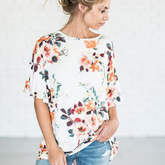 Women's Floral Shirt Top / Blouse