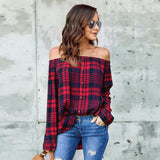 Women's Shirt Top / Blouse Off Shoulder