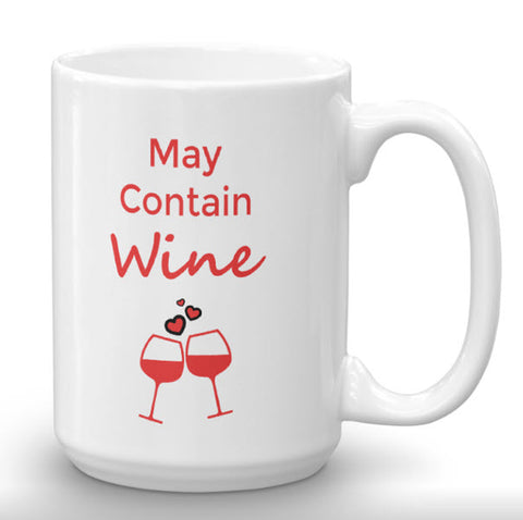 May Contain Wine 15oz Oversized Mug