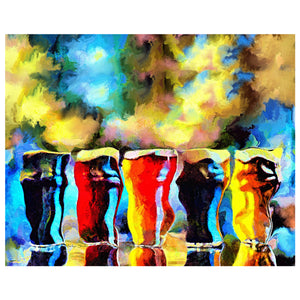 One Beer is Good More Beers is Better | Drunk-Girl-Art