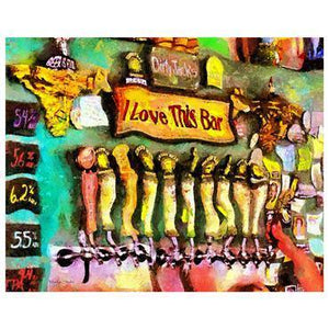 """I LOVE THIS BAR"" Dye Infused Metal 8x12"