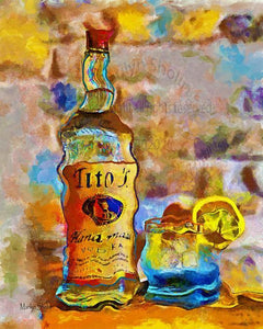 Titos Dye Infused Metal 8x12