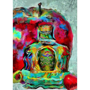 Crown Royal Apple Painting On Metal