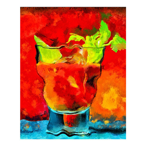Best Bloody Mary Painting | Fine Art Print & Dye Infused Metals