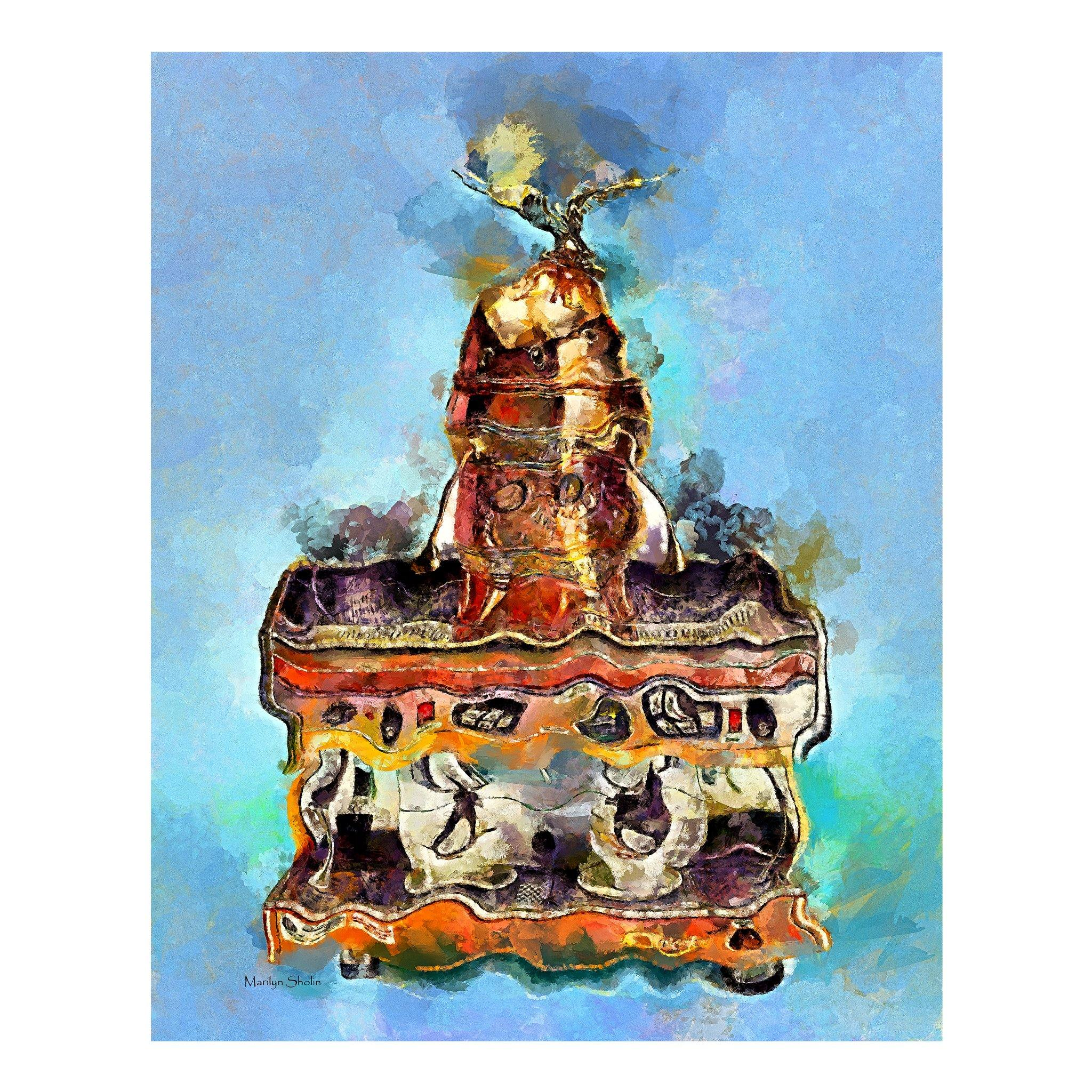 Antique Cappuccino Machine | Drunk-Girl-Art