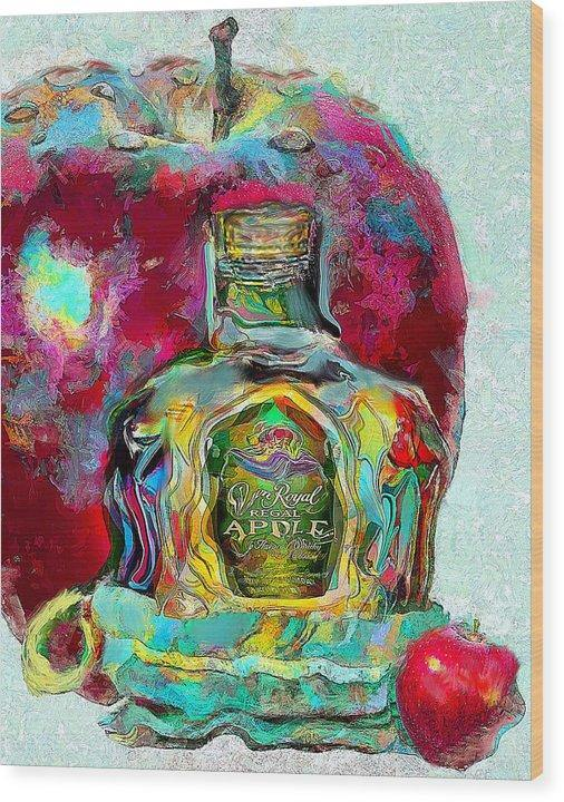 Crown Royal Apple - Wood Print