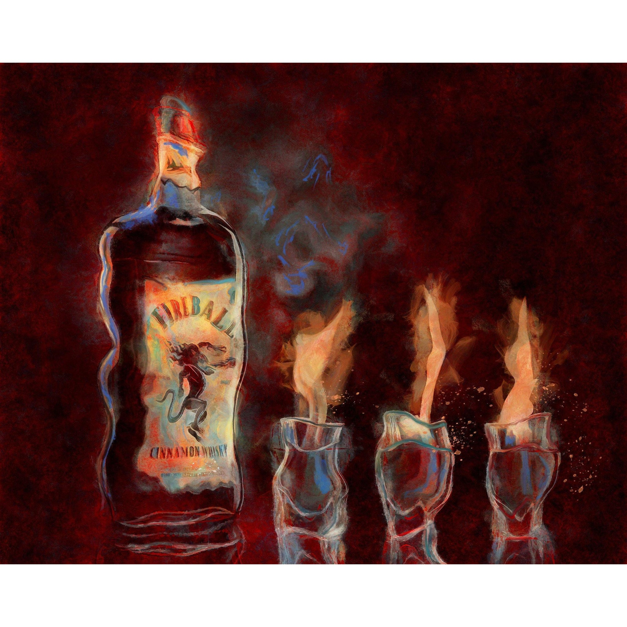 "Cinnamon Fireball Whiskey ""HOT STUFF"""