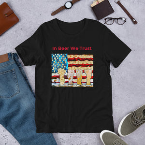 In BEER We Trust Patriotic Beer TShirt